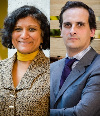 Professor Nandini Ramanujam and Professor Frédéric Mégret (photo by Lysanne Larose)