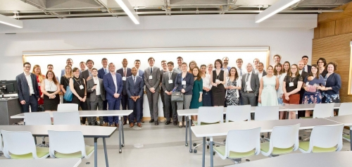 During the cocktail, young alumni visited the renovated NCDH 101 and NCDH 102 classrooms.