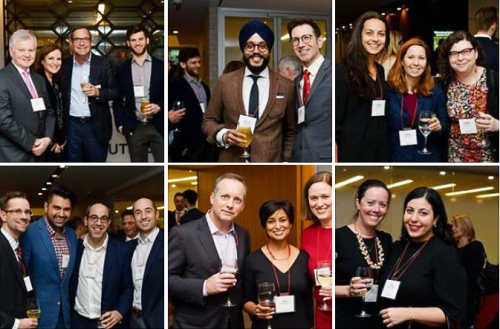 Mosaic of photos from the 2018 Alumni Cocktail in Toronto