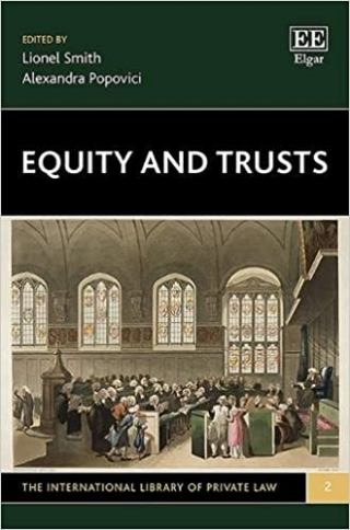 Equity and Trusts (Elgar, 2019) book cover.