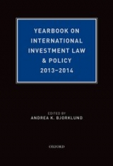 2013-2014 Yearbook on International Investment Law and Policy