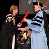 Hoi Kong receives Principal's Prize for Excellence in Teaching at Fall Convocation.