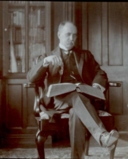 William Osler in his Personal Library, Oxford, 1907.  Photograph by Arnold C. Klebs, fellow bibliophile and colleague at Johns Hopkins.  Osler Library (Cushing Collection), Image no. CUS064-063P.