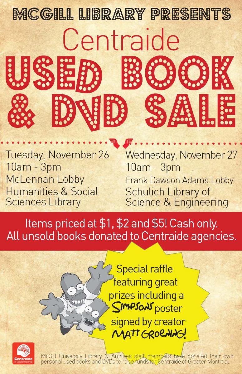 Centraide Used Book & DVD Sale | McGill Library - McGill