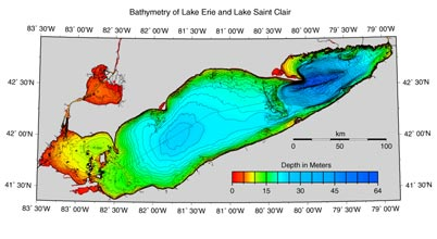 Example of Bathymetry of Lake Erie data