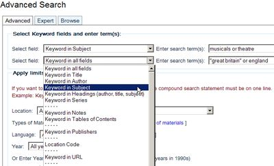 Take elements of the subject headings and search for them alone or in various combinations to retrieve as many relevant records as possible.