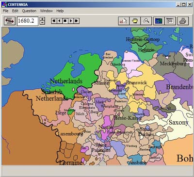 Digital historical atlas of Europe and Middle East depicting territorial changes from 1100 AD to present.