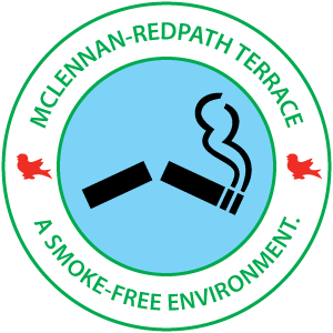 McLennan-Redpath terrace - A smoke-free environment.