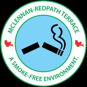 McLennan-Redpath terrace - A smoke-free environment.