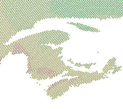 ASCII Point Grid Data (CSV), 10km spacing, max. temperature, April 23, 1998