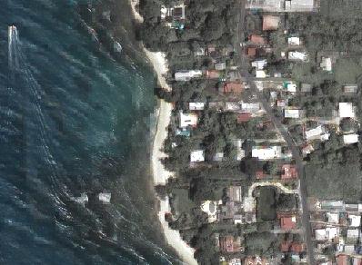 Sample of Ikonos image for Barbados