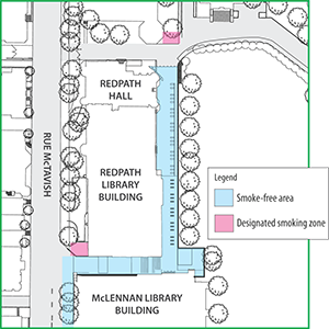 Terrace map of non-smoking and smoking areas