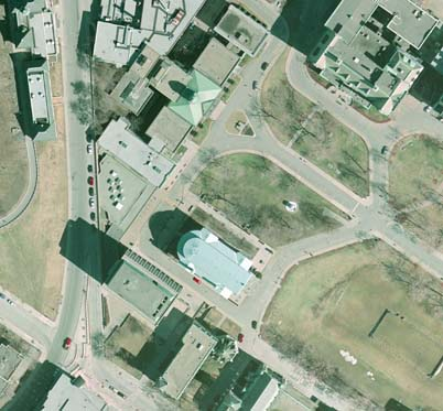 Sample image of 2005 orthophoto, Arts Building, McGill University.