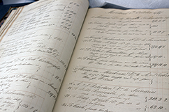 hand-written ledger