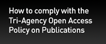 How to comply with the Tri-Agency Open Access Policy on Publications