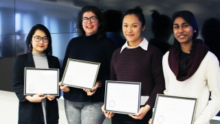 (From left to right) Muhan Zhang, Phoebe Warren, Janice Ngiam and Kabisha Velauthapillai