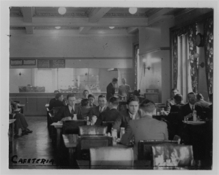 Photo: Students dining in McGill union cafeteria, [1931] Photographer: Gilbert Sherman McGill University Archives #PU038138