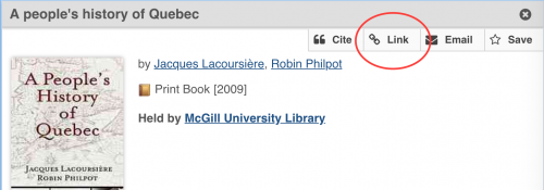 Creating persistent, permanent or stable links | McGill Library