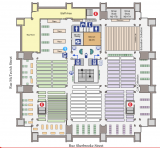 Humanities and Social Sciences library - 2nd floor plan