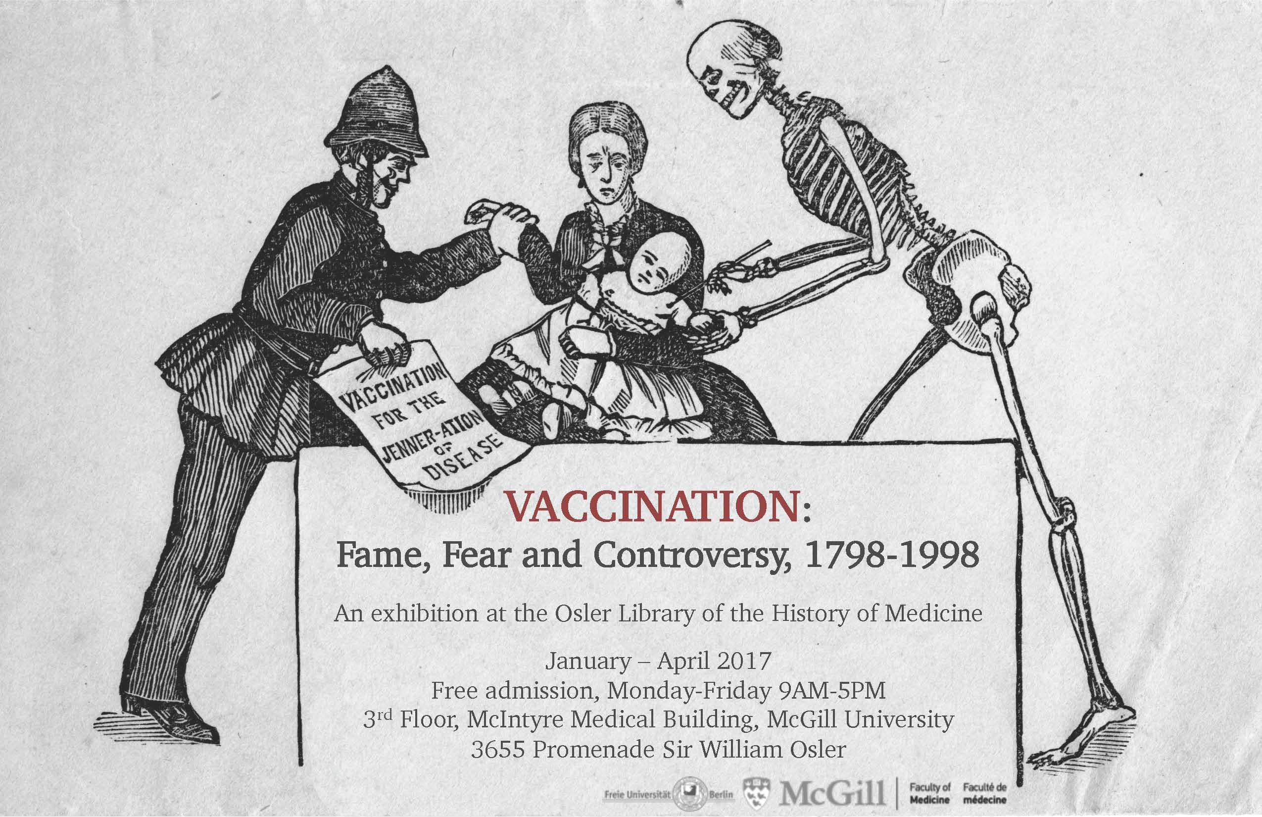 Vaccination: Fame, Fear and Controversy, 1798-1998