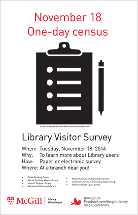 Visitor survey, November 18, 2014