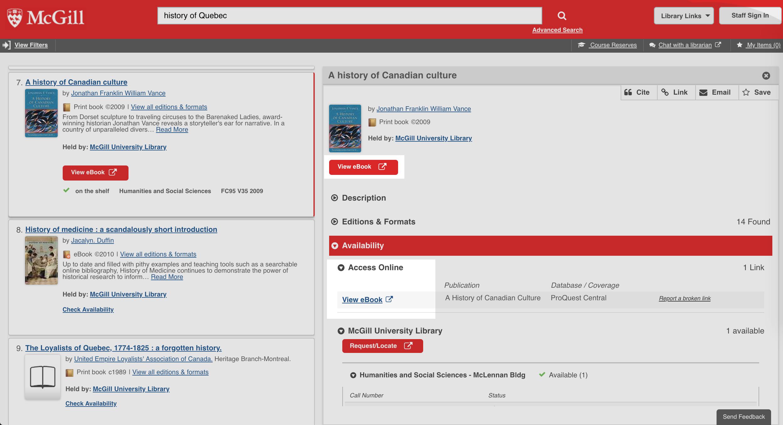 Find books & media   McGill Library - McGill University