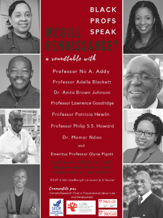 8 Feb 2018: Black Profs Speak. A McGill Renaissance?