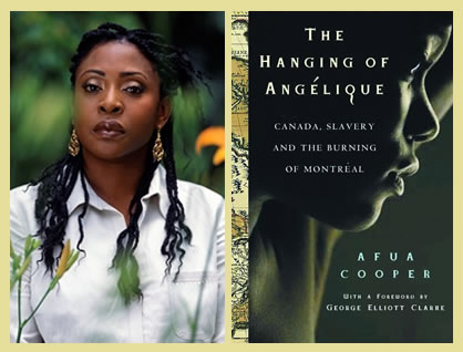 Afua Cooper and the cover of her book
