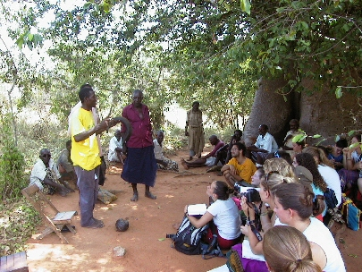 Kenyan elders share their knowledge with Africa Field Study Semester students.