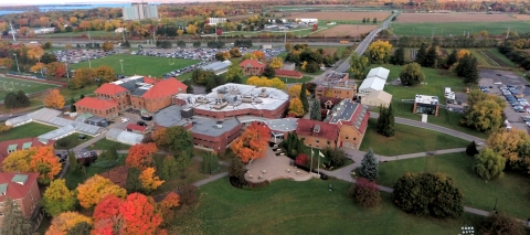 The Macdonald Campus aerial view