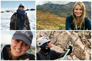 McGill winners of the Weston Family Awards in Northern Research (clockwise from top left): Alexandra Langwieder, Jessica Norris, Don-Jean Leandri Breton and Julia Baak