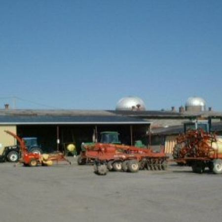 The Field operations compound of Macdonald Campus Farm with some of the equipment used in our cropping program.