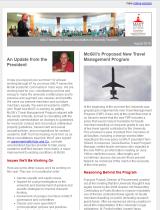 Screenshot of August 2016 newsletter