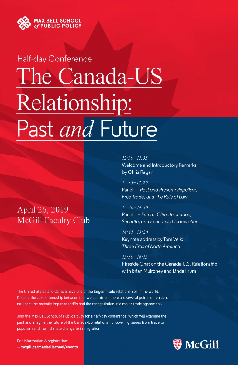 The Canada-U S  Relationship: Past and Future | Max Bell School of