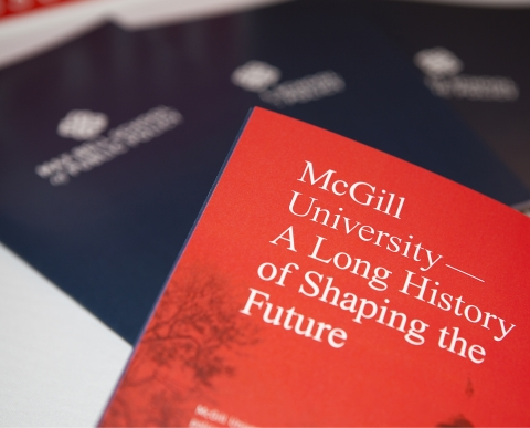 Corner page of the Max Bell School of Public Policy brochure