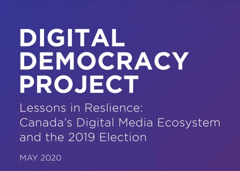 Digital Democracy Project banner Lessons in Resilience