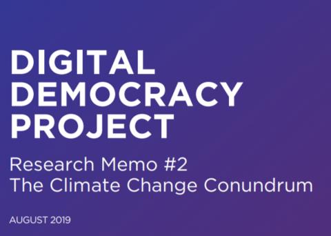 Digital Democracy Project banner Memo #2