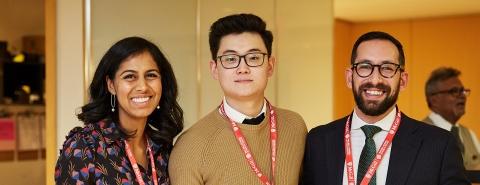 Three people facing the camera