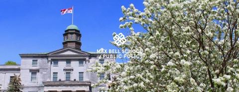 McGill's Arts Building in springtime