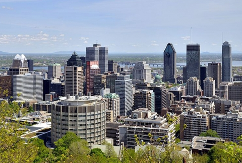 View of Montreal skyline