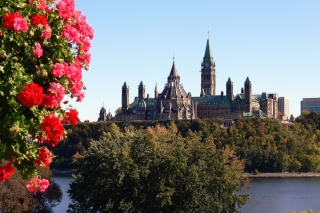 A view of the Canadian Parliament buildings