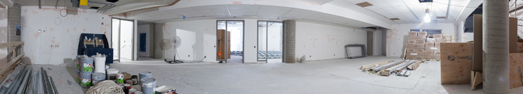 July 2017: Panoramic view of 2nd floor, Hall and classrooms, MBA and Masters building