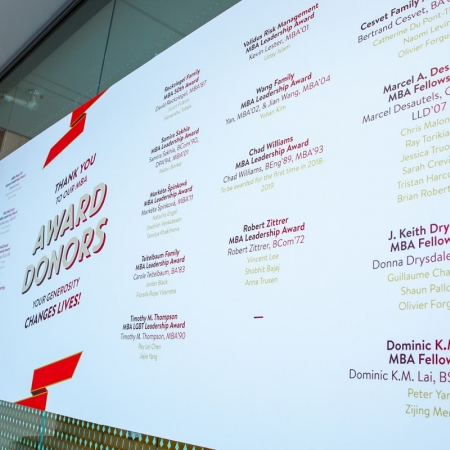 Donors who created 34 new MBA Awards are celebrated at the May 25-26 events.