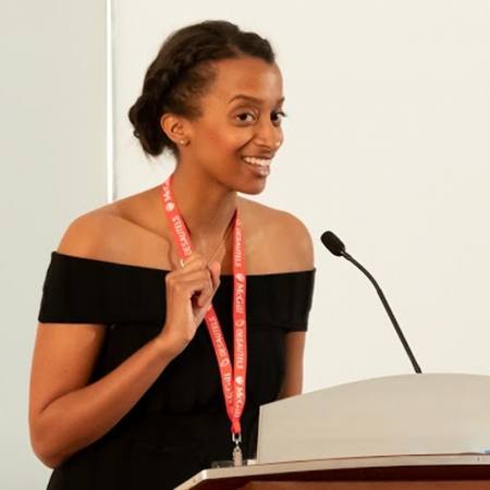Mariama Dupuis-Sene (BA'10, MBA'18) expertly emcees the events through May 25-26.
