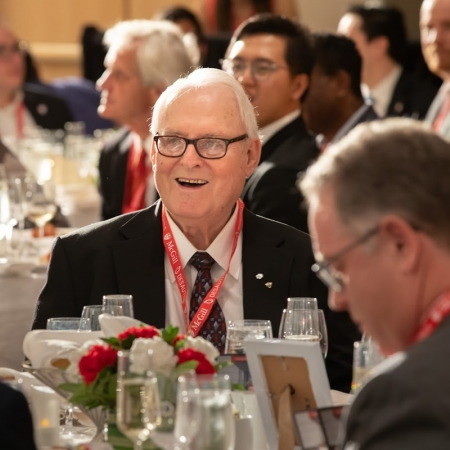 Marcel Desautels is honoured for his remarkable commitment to the Desautels Faculty of Management.