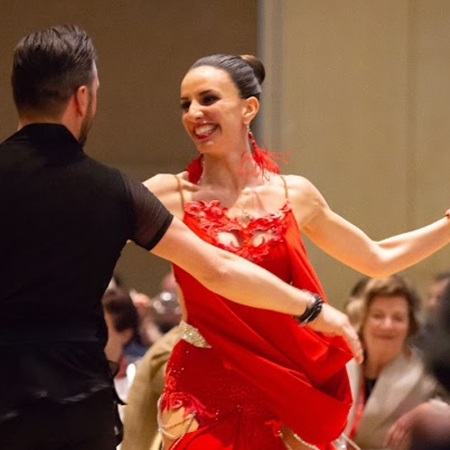 Ballroom dancers entertain the gala attendees and pay homage to Professor Don Armstrong's love of dancing.