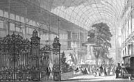 Interior views of the Great Exhibtion of 1851.