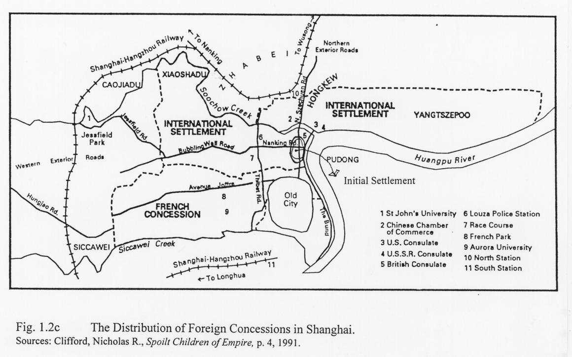 Chapter 1 History Of Shanghai Minimum Cost Housing Group Mcgill This Is A Very Typical Network Diagram In I Was Using The Distribution Foreign Concessions