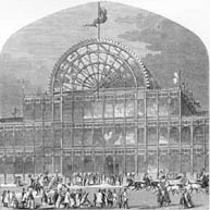 Outside views of the Paxton's Crystal Palace.