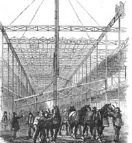 Building of the Crystal Palace.